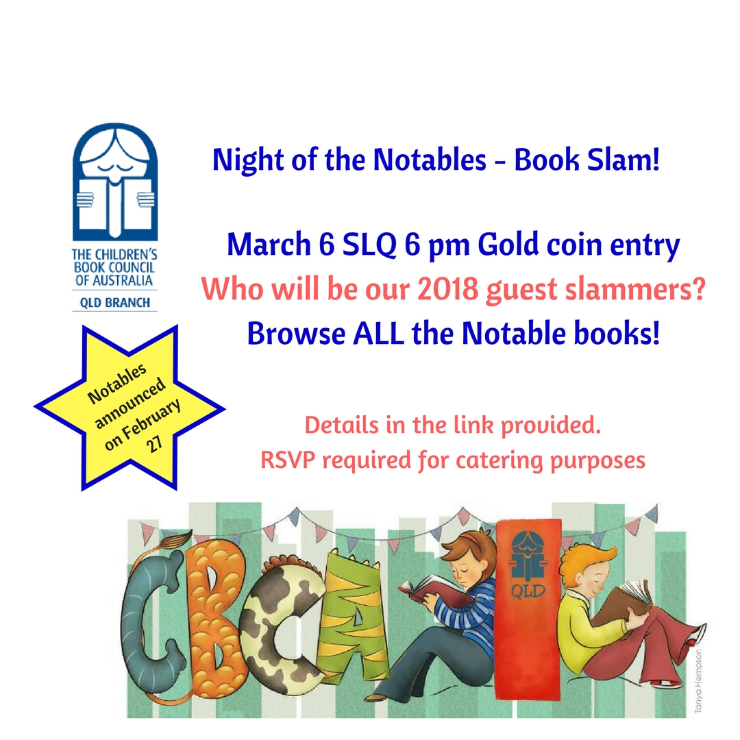 cheap for discount 1ac2a a1674 We are hosting our 3rd annual book slam on March 6, one week after the  Notables are announced!